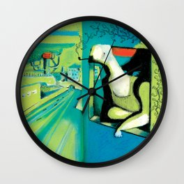 ORANGE ROOM Wall Clock