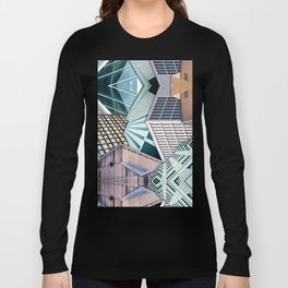 City Buildings Abstract Long Sleeve T-shirt