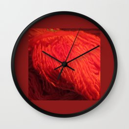 Yarn on Fire Wall Clock