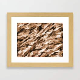 Beige on Beige Designer Camo pattern Framed Art Print