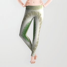White Poinsettias Kaleidoscope 1 Leggings