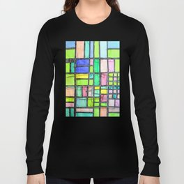 Homage to Mondrian Long Sleeve T-shirt