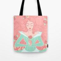 sleep Tote Bags featuring Sleep by Taija Vigilia