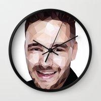 liam payne Wall Clocks featuring Liam Payne - One Direction by jrrrdan