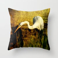 fishing Throw Pillows featuring Fishing by JMcCool