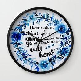 Song lyrics from Lost Boy by Ruth B Wall Clock