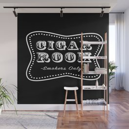 Cigar Room Smokers Only Wall Mural