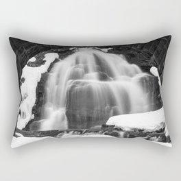 Winter Arch Waterfall Rectangular Pillow