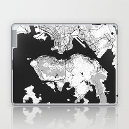 Hong Kong Map Gray Laptop & iPad Skin