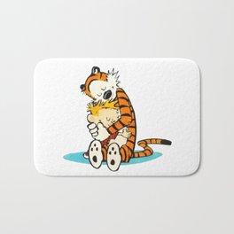 calvin and hobbes hug Bath Mat