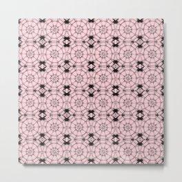 Blushing Bride Pinwheels Metal Print