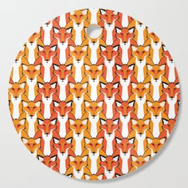 Autumn Foxes Cutting Board