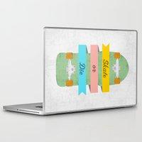 skate Laptop & iPad Skins featuring Skate or Die. by Nick Nelson