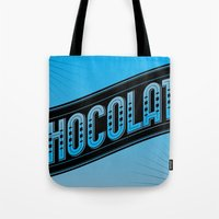 chocolate Tote Bags featuring Chocolate by Rhys Jenkins