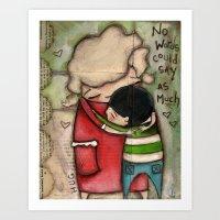 Hug - by Diane Duda Art Print