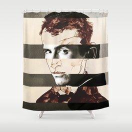 Egon Schiele's Self Portrait & Anthony Perkins Shower Curtain
