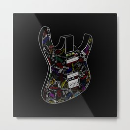 Guitar of fame: Drawing version Metal Print