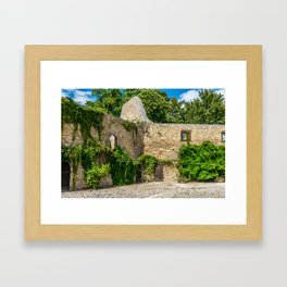 Old Castle Wall Ruin Framed Art Print