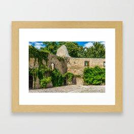 Old Castle Wall Ruin Framed Art Print