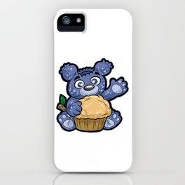 BLUEBEARY MUFFIN Blue Blueberry Cupcake Teddy Bear iPhone Case