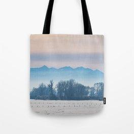 Spanish Peaks Fog Tote Bag