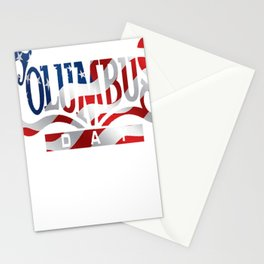 Columbus Day T-shirt Stationery Cards