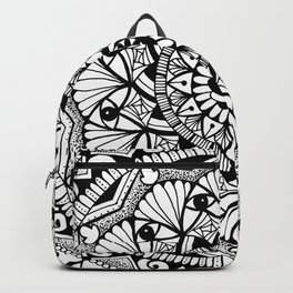 Black & White - I See You - Mandala Backpack