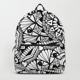 Black & White - I See You - Mandala Backpack