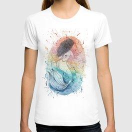Sunset Curly Mermaid T-shirt