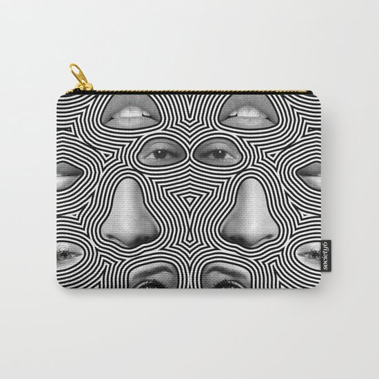 Silver Abuse Carry-All Pouch