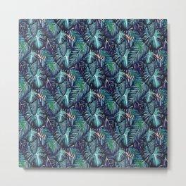 Jungalow Brights - Turquiose Palm Metal Print