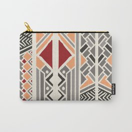 Tribal ethnic geometric pattern 034 Carry-All Pouch
