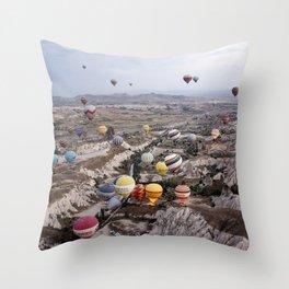 Air Ballons, Cappadocia, Turkey. Throw Pillow