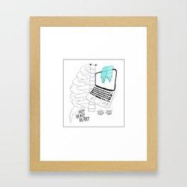 hot heavy  Framed Art Print