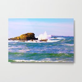 Breakers Point Rocks Metal Print