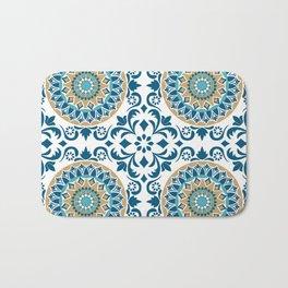 Bluish Variety Pattern Bath Mat