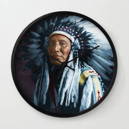 American Indian Chief Wall Clock