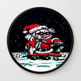 Santa Night Thief Wall Clock