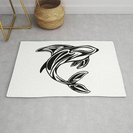 Orca Tribal Tattoo Design Rug