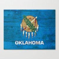 oklahoma Canvas Prints featuring Oklahoma by C Liza B