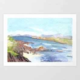 Sound of Iona from the Argyll Hotel Art Print