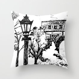 On the way to the Triumph! Throw Pillow
