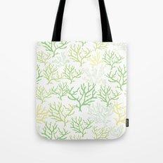 Green Corals Tote Bag