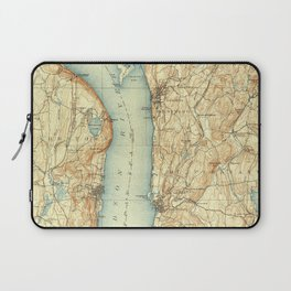 Vintage Map of Tarrytown NY & The Hudson River Laptop Sleeve