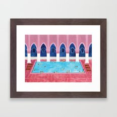 Moroccan Pool Framed Art Print