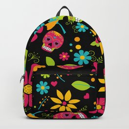 Dia De Los Muertos (black) Backpack