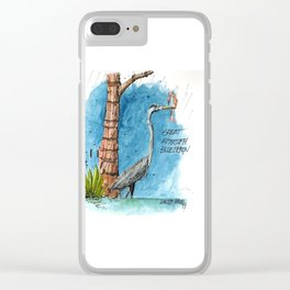 Mississippi Great Blue Heron Clear iPhone Case