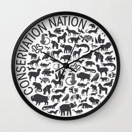 A Circle of Animals Wall Clock