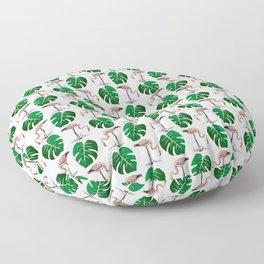 flamingo leaf patttern Floor Pillow