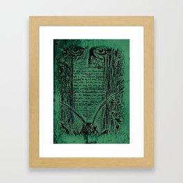 Kafka I Framed Art Print